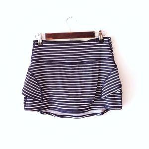 ATHLETA Golf tennis striped tiered skort skirt